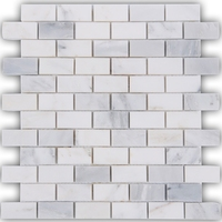 Carrara White Gray Marble mosaic tiles backsplash kitchen TV bath shower home decorwall/floortile sticker,free shipping,LSMBST11