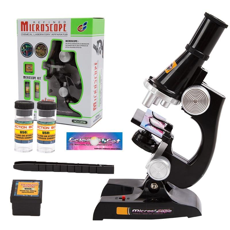 100X400x1200x Educational Toys For Kids Microscope Kit Science Chemistry Lab Set