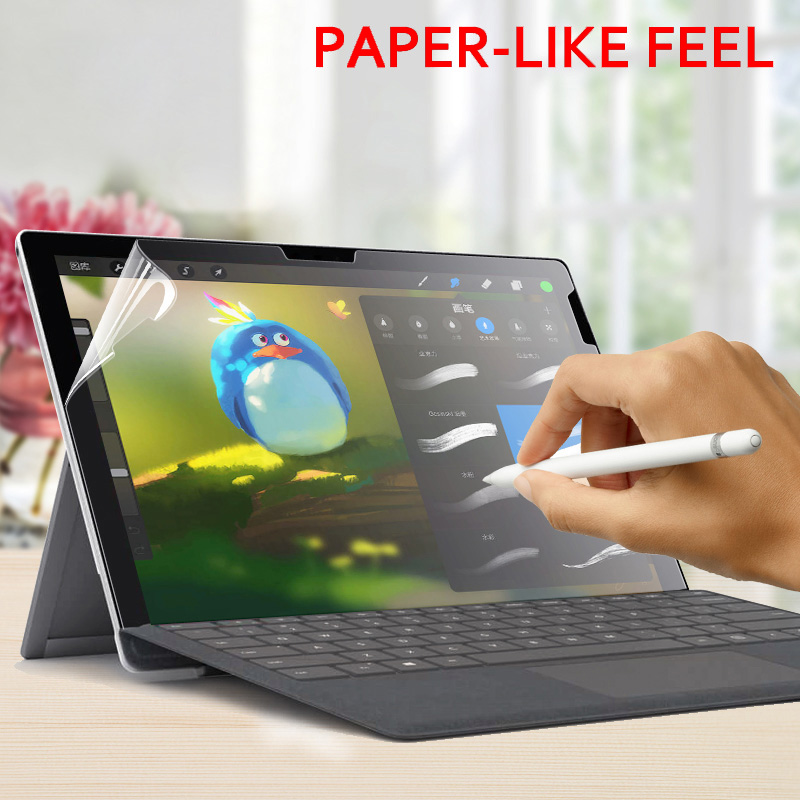 Paper Like Screen Protector Film Matte PET Anti Glare Painting For Microsoft Surface Pro 3 4 5 6 Go Book 1 2 13.5 15 inchPaper Like Screen Protector Film Matte PET Anti Glare Painting For Microsoft Surface Pro 3 4 5 6 Go Book 1 2 13.5 15 inch