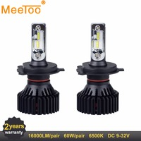 LED H7 H4 H11 12V 24V Auto Lamps HB3 HB4 LED Car Lights Bulb 16000LM 9005 9006 9004 9007 LED Bulb Replace Lamps for Car