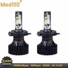Светодиодный H7 H4 H11 12 В 24 В авто лампы HB3 HB4 светодиодный автомобиль лампочка 16000LM 9005 9006 9004 9007 светодиодный лампы заменить лампы для автомобиля