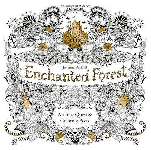 Original English Enchanted Forest Secret Garden Coloring Book Adult Children Relieve Stress Graffiti Painting Drawing