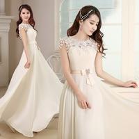 Long Elegant Bridesmaid Dress Chiffon Champagne Short Prom Dress Vestido De Festa Longo Bridesmaid Dresses