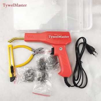 Práctico soldador de plástico herramientas de garaje grapadoras calientes máquina grapa de plástico de PVC reparación de la máquina de grapadora caliente Reparación de parachoques del coche
