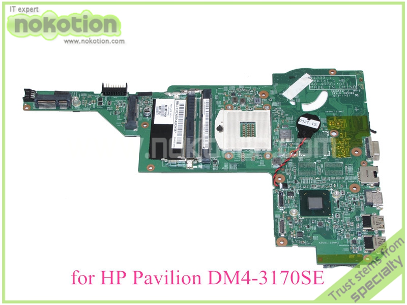 NOKOTION  laptop motherboard for HP Pavilion DM4 DM4-3170SE HD4000 DDR3 681853-001 mainboard warranty 60 days top quality for hp laptop mainboard dv7 dv7 4000 630984 001 hm55 laptop motherboard 100% tested 60 days warranty