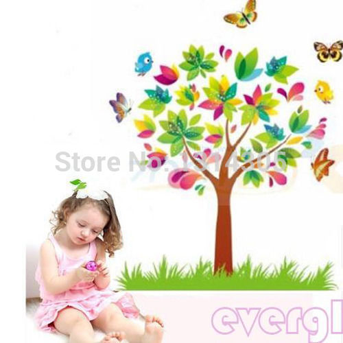 Tree Butterfly Vinyl Removable Wall Decal Sticker Art Mural Home Decor Kid Room Decal
