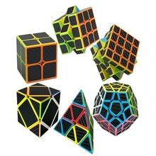7 kinds Carbon Fiber Stickers Fidget cube 3x3x3 2x2x2 4 4 4 5 5 5 Magic