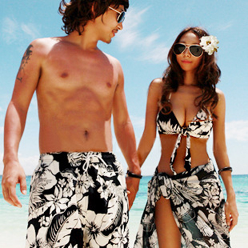 Couple Swimsuit Women Bikini Men   Board     Shorts   Swimming Trunks Boxer Sweat Beach swimwear Surfing   Board     short   Fitness Plus