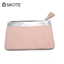 SIKOTE Women's Cosmetic Bags Fashion Portable Tassel Fringe PU Leather Storage Waterproof Washbag Female Make up Bags For Mujer