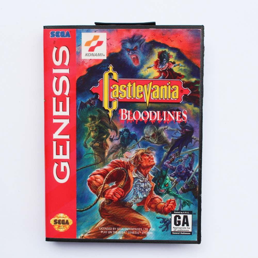 Castlevania Bloodlines Game Cartridge 16 bit MD Game Card With Retail Box For Sega Mega Drive image