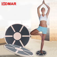 DMAR Wooden Balance Board Fitness Equipment Twist Boards Support 360 Degree Rotation For Twist Exerciser Load bearing Home Gym