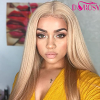 DOROSY HAIR Full Long Blonde Wigs For Women Synthetic Lace Front Wig Straight 22 Inch Real Natural 14 Color Available Perruque