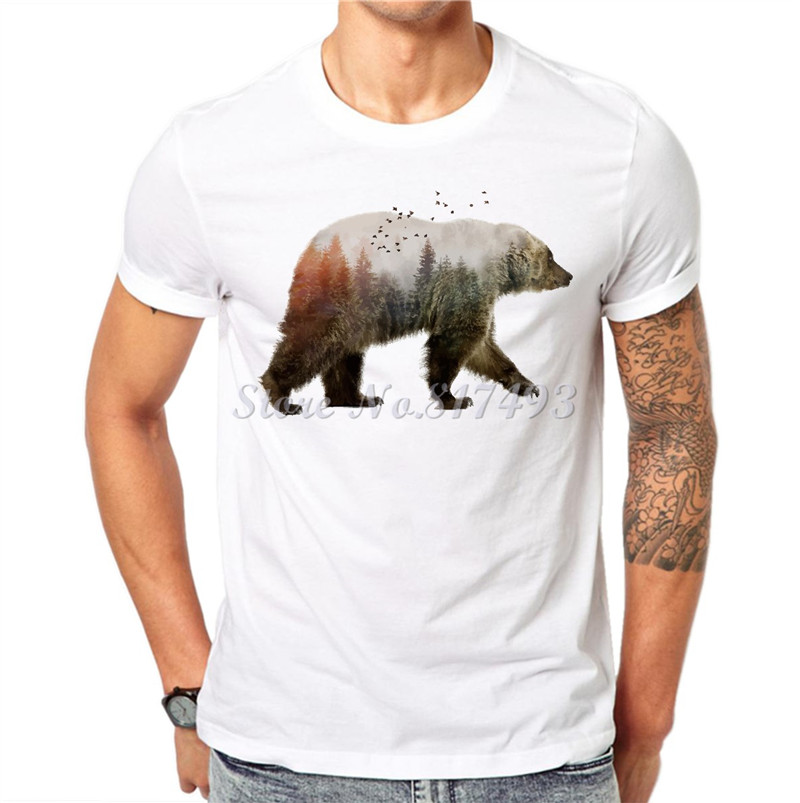 Trendy melon novelty animal print men t shirt brand funny for Animal tee shirts online