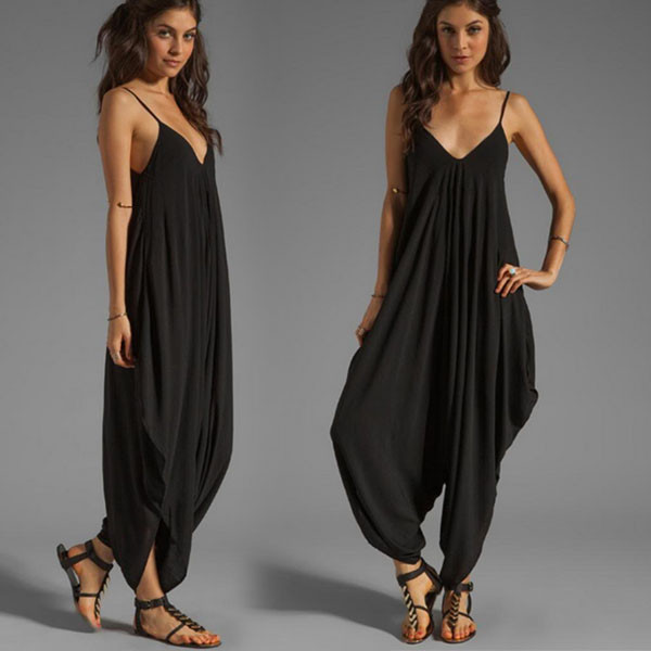 a66f73e9ddf 2017 Summer New Casual Sexy Women Sleeveless Deep V-Neck Jumpsuits Backless  Spaghetti Strap Rompers