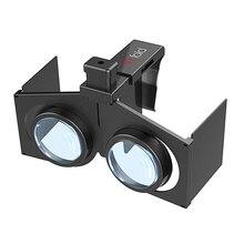 """VR לקפל משקפיים מציאות מדומה 3D משחקי סרטים משקפיים נייד מתקפל VR עבור 4.5 """" 6"""" אנדרואיד IOS חכם טלפון"""