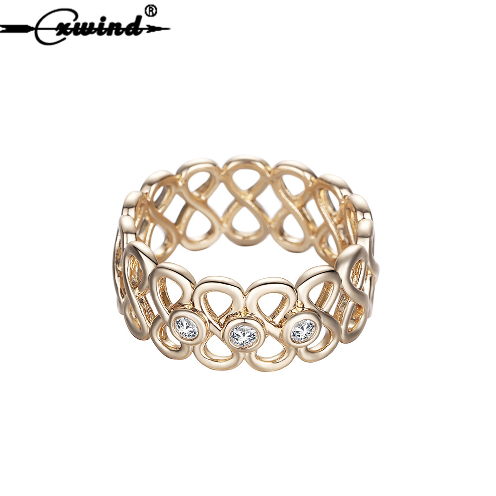 Cxwind Fashion Crystal Infinity Connect Ring Best Friend Rings Eternity Best Gift Endless Love Symbol Finger Ring For Women