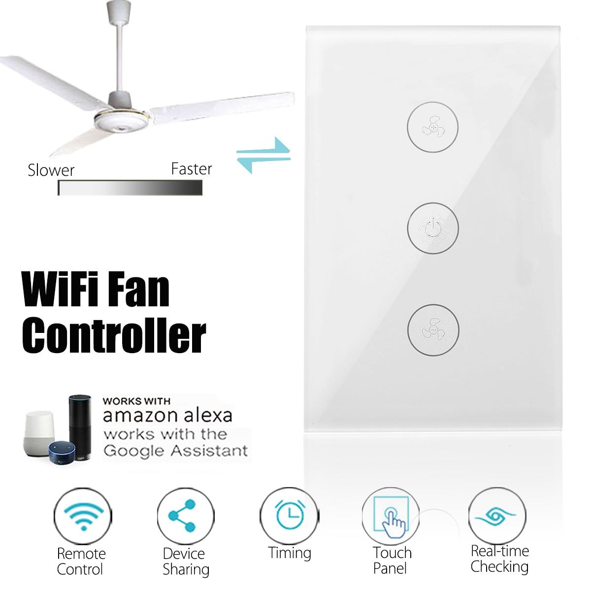 Wifi Smart Wall Switch Us Standard 400w 10a Ceiling Fan