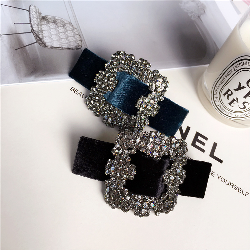 Fashion Rhinestone Spring Hair Clips Accessories elegance Women Luxurious Glittering jewel hair clips Hairpins barrette