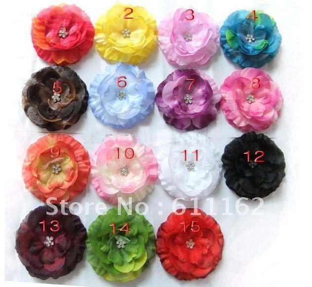 4 ''пион Гербер Пион Детские банты для волос детские заколки для девочек цветы полосы 50 шт. nvcxx5202
