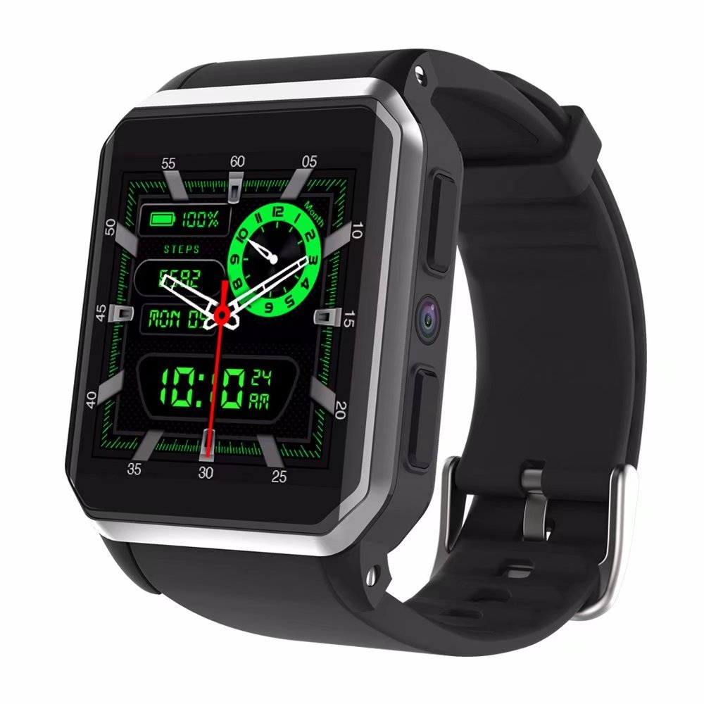 RUIJIE KW06 GPS montre intelligente Android 5.1 OS MTK6580 étanche fréquence cardiaque Bluetooth Wifi Smartwatch Support SIM/TF carte caméra