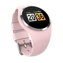 Kobiety smart watch bransoletka fitness Monitor pracy serca Blodd ciśnienie pomiaru otrzymać telefon zwrotny od Riminder dla iPhone xiaomi Samsung różowy