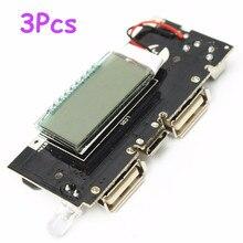 Best продвижение 3 шт. Dual USB 5 В 1A 2.1A мобильный Мобильные аккумуляторы 18650 Батарея Зарядное устройство pcb Мощность модуль Аксессуары для телефон DIY