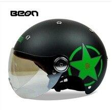 BEON men women summer vintage capacete motorcycle helmet motocicleta casco casque moto helmet ECE approved half face helmet