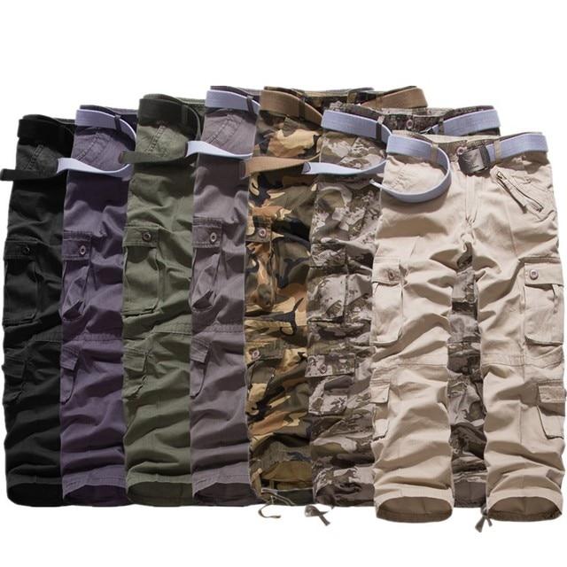 Men's Pants 2019 Fashion Brand Men Length Trousers Military Cargo Camouflage Pant Joggers Sweatpants Casual Tactical Pants 4
