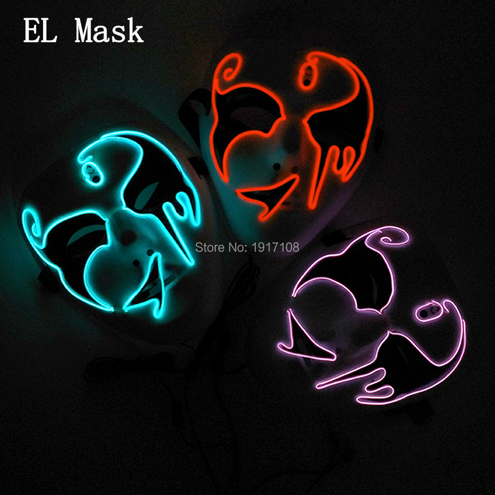 Wholesale 10 colors Available EL Wire Mask Led Mask Halloween ...