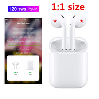 new i20 TWS Pop up Bluetooth 5.0 Earphone 4D Super Bass Sound Earbuds Wireless Earphones for all Smartphones PK W1 Chip i30 i60