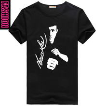 Chinese kung fu Bruce lee cotton short sleeve T-shirt man sweethearts outfit Cool T Shirt Printed Custom Casual Patriots Tees