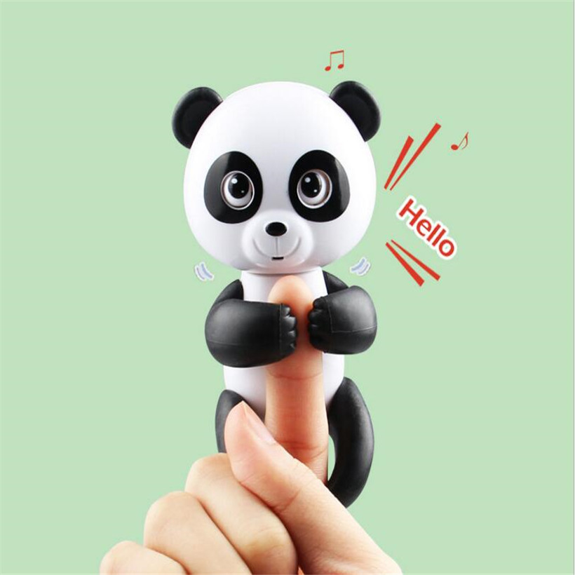 Haute Qualité Drôle Alevins Interactive Doigt Panda Smart Coloré Doigt Llings Induction Intelligente Jouet De Noël Cadeau Enfants Jouets