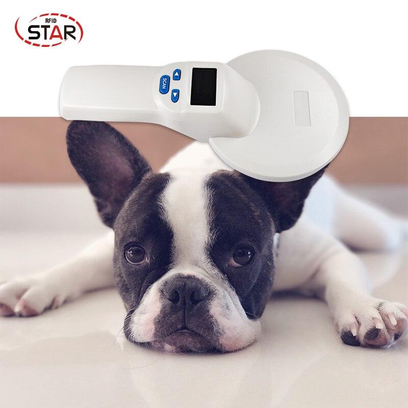 134,2 кГц портативный rfid сканер ISO11784 FDX B животный чип ручной ридер собака чип сканер для чтения rfid транспондер тег