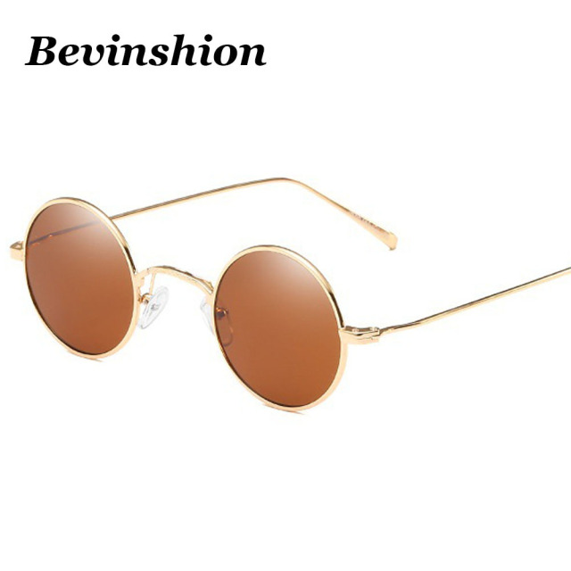 549c5d6012 New Arrival Vintage Small Round Sunglasses Men Women Red Yellow Lens Brand  Retro Metal Sun Glasses