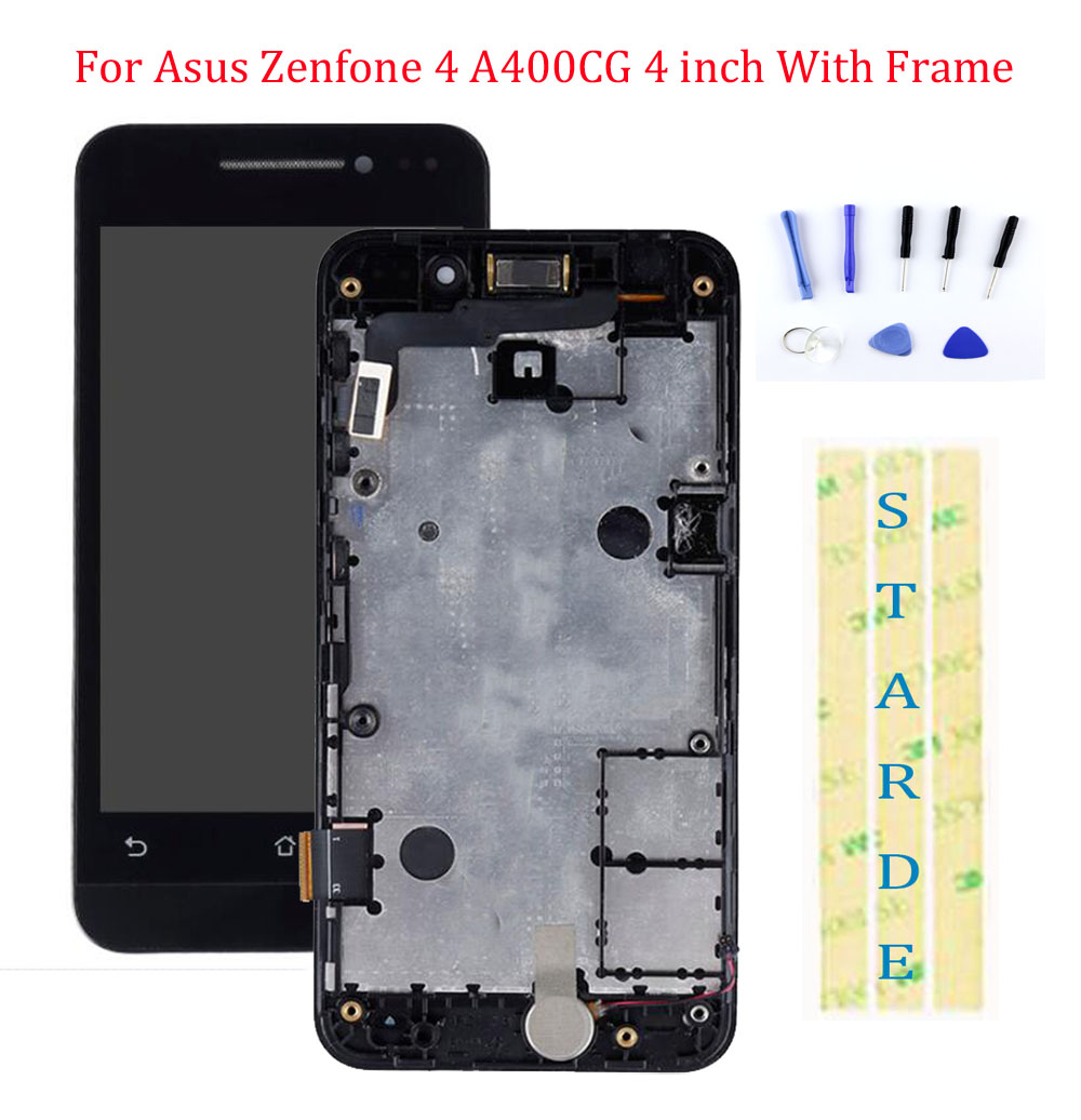 STARDE LCD For Asus Zenfone 4 A400CG LCD Display Touch Screen Digitizer Assembly With Frame 4