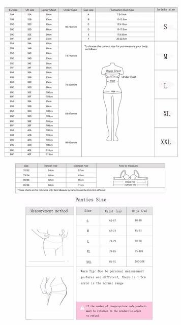Women Sexy Lace Bra Brief Underwear Lingerie Set