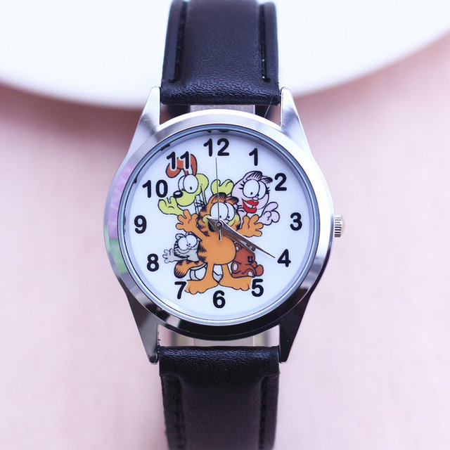 2018 new 1pcs new Garfield fashion Watches Children Kids watch Boys gift Watch C