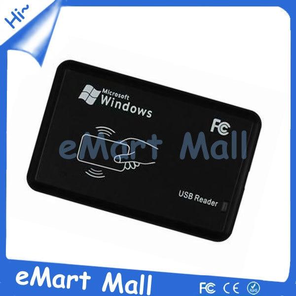 125KHz Black USB Proximity Sensor Smart rfid id Card Reader + 5pcs EM4100 card new id 10 125khz em4100 rfid proximity id cards smart card usb reader