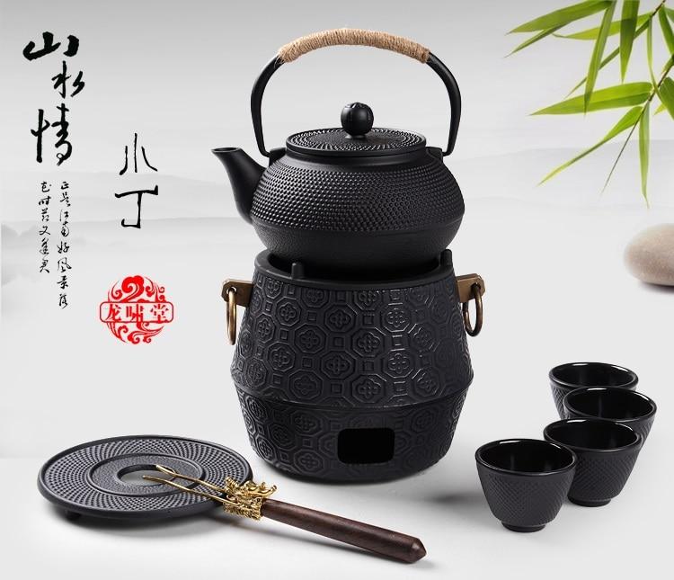 Japan Southern Cast iron kettle old iron pot shells Japanese tea pots health boiler scale iron pot 900ml