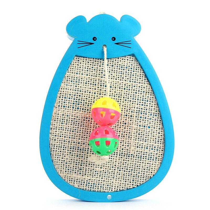 Pet supplies cat toy kedi tuvaleti gat cat scratcher Sisal cat scratch plate spring feathers mouse pet cat toys