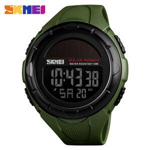 Moda Solar Sports zegarki mężczyźni wodoodporna marka skmei cyfrowy zegarek wojskowy Solar Power męskie zegarki na rękę Relogio Masculino