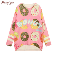 High Quality Cashmere Sweater Women 2017 Winter Cute Pullover O Neck Long Sleeve Kawaii Print Knitted