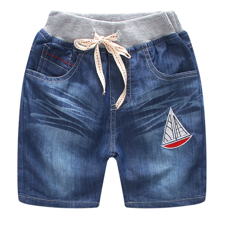 The New Children'S Summer Children'S Brand Jeans Denim Shorts 2018 Hot Fashion Casual Boy Shorts italian style fashion men s jeans shorts high quality vintage retro designer classical short ripped jeans brand denim shorts men