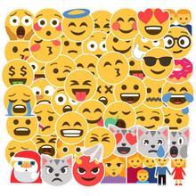 """50 шт./лот граффити улыбающееся лицо милый мультфильм дети наклейки Скрапбукинг мотоцикл блокнот """"Гитара"""" скейтборд водонепроницаемые наклейки"""