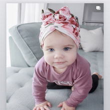 Baby Beanies Caps Newborn Girls Turban Toddler Hats Babe Bows Headband