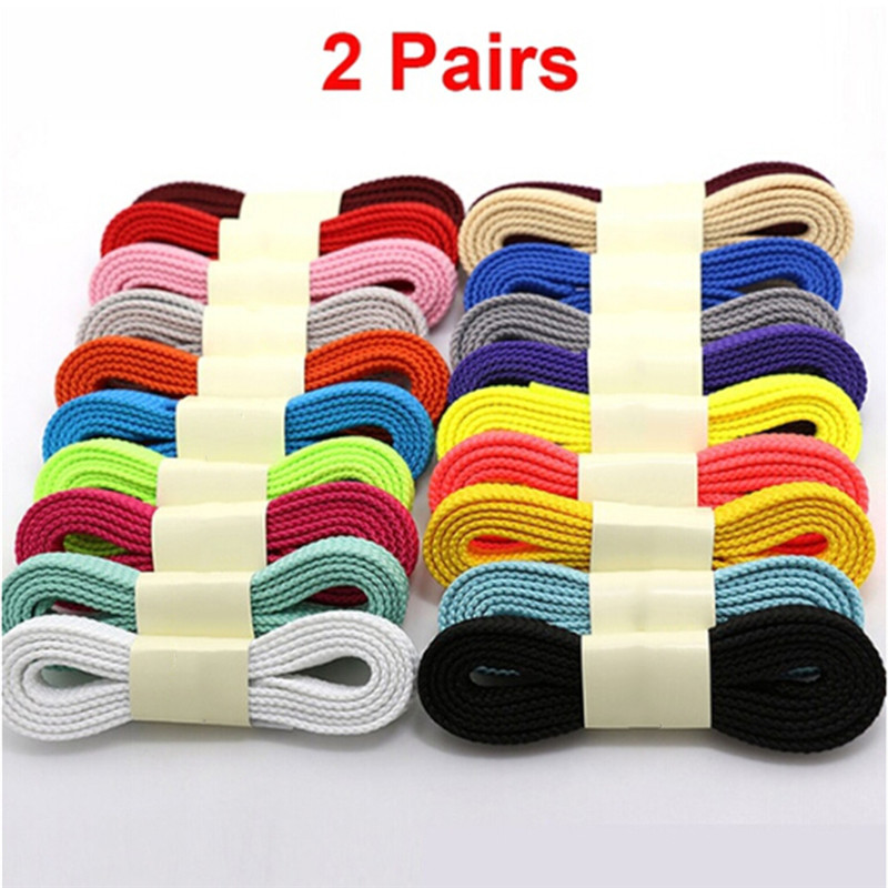 outlet famous brand special for shoe 2 Pairs Thick Flat Fat Shoe Laces Double Layer Boot Laces Sneaker ...