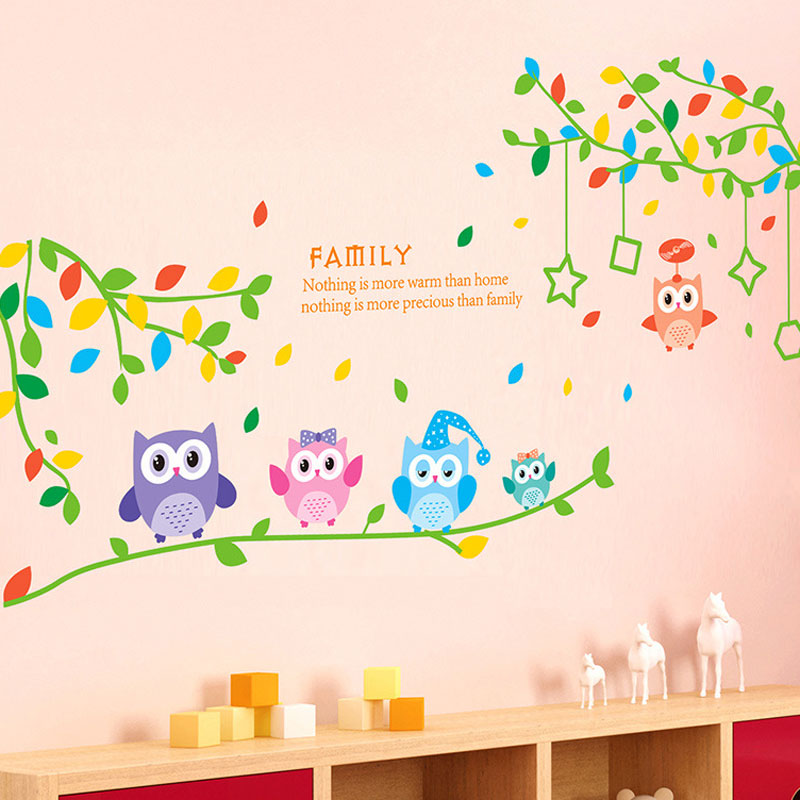 Tree Branches 5 Only Owl Wall Sticker PVC Decal Wall Stickers For Kids  Rooms Bedroom Home Decor Sticker Mural In Wall Stickers From Home U0026 Garden  On ... Part 31