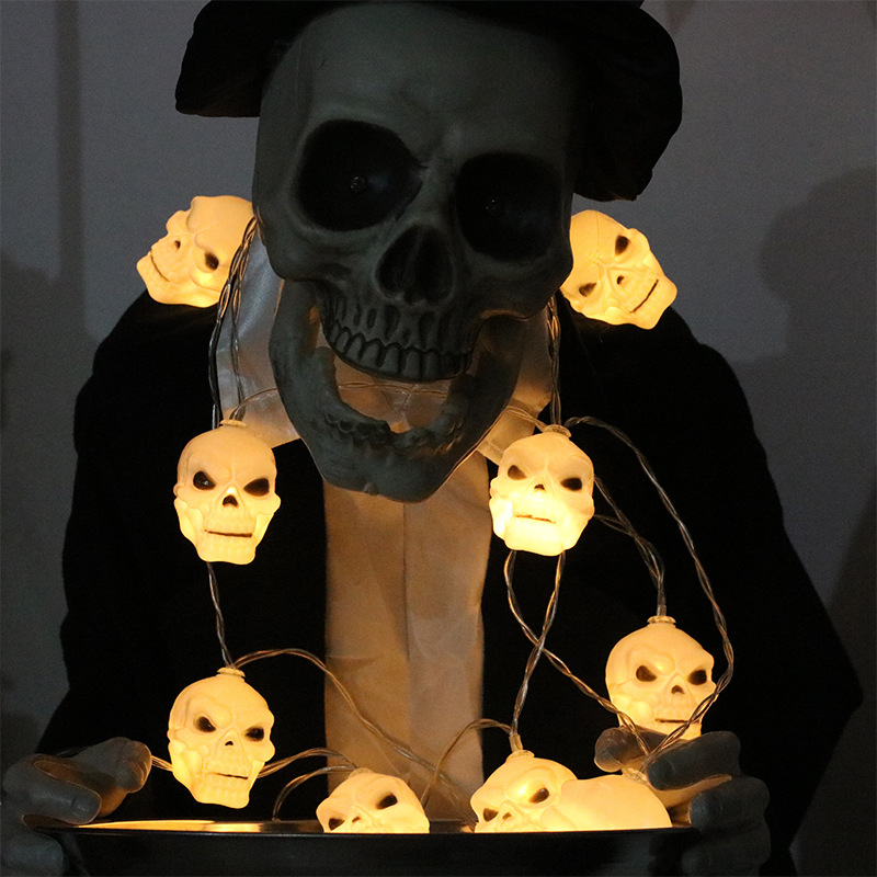 Pumpkin/Ghost/Eyeball/Skull 10 LED String Light Fairy Lights Battery Powered For Christmas Halloween Holiday Party Garden Decor цена 2017