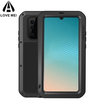 Dla Huawei P30 Pro Case miłość MEI wstrząsy odporne na zabrudzenia odporny na działanie wody metalowy pancerz pokrowiec na telefon etui na Huawei P30 Lite P30