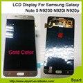 Color oro nueva teléfono móvil lcd digitalizador de pantalla táctil lcd para samsung note 5 n920r4 sm-n920t sm-n920a sm-920v sam1092